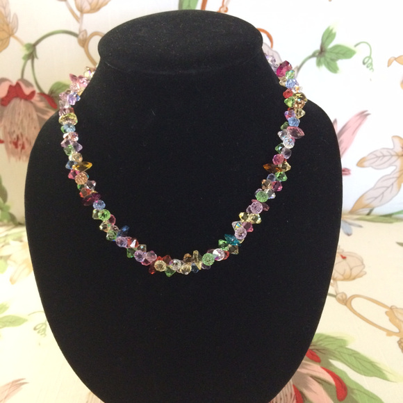 variousstyles how to purchase shop for best Multi-Color Swarovski Crystal Necklace